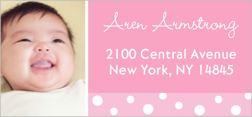Twelve Months Pink Address Label by Yours Truly
