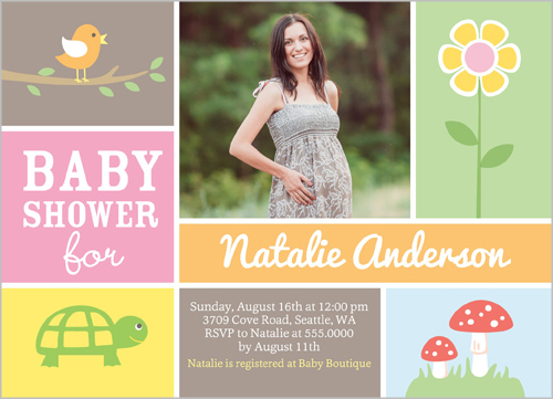 shower her with love and a stylish baby shower invitation personalize