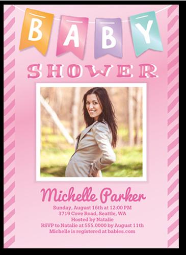 Baby Banner Girl Baby Shower Invitation