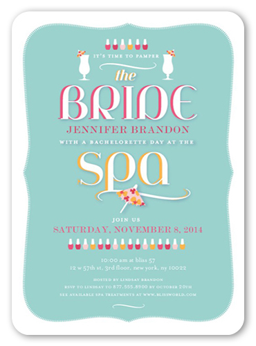 Paint The Town 5x7 Card | Bachelorette Party Invitations ...