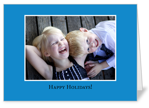 Classic Blue Birthday Card
