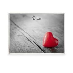 red heart acrylic block