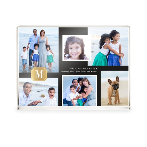Timeless Monogram Collage Acrylic Block