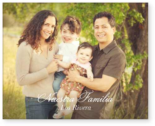 Scripted Nuestra Familia Horizontal Acrylic Print, Single piece, 8 x 10 inches, White