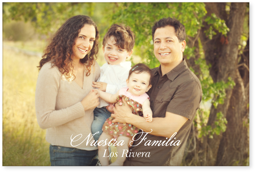 Scripted Nuestra Familia Horizontal Acrylic Print, Single piece, 24 x 36 inches, White