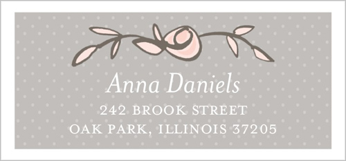 Sweet Blossoms Address Label