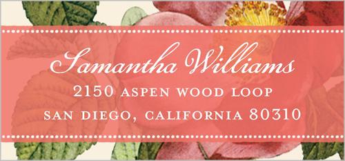 Vintage Garden Address Label
