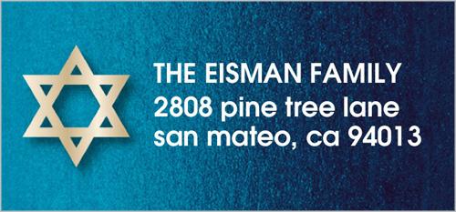 Shimmering Star Address Label