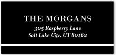 monogram shine collage address label