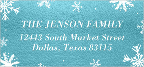 Holiday Flurries Address Label