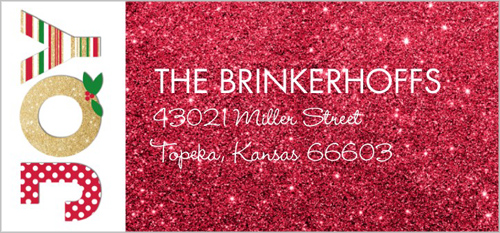 Joyful Sparkle Address Label