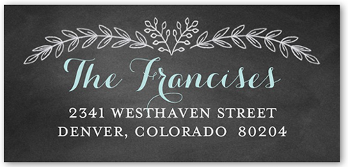 Chalkboard Christening Boy Address Label