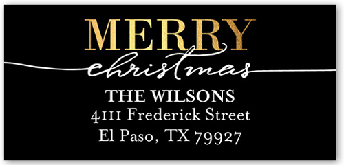 Dazzling And Merry Address Label