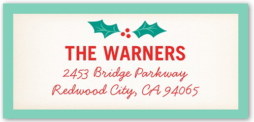 Scripted Holly Jolly Address Label
