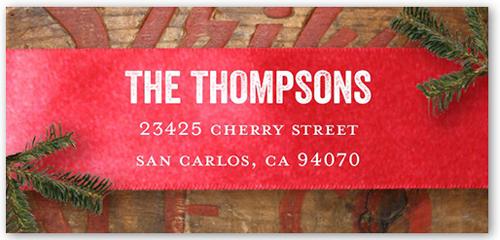 Rustic Banner Address Label