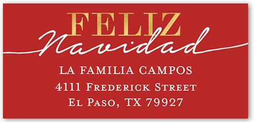 Brillante Navidad Address Label