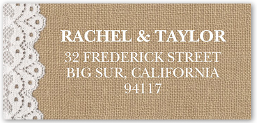 Burlap And Lace Address Label