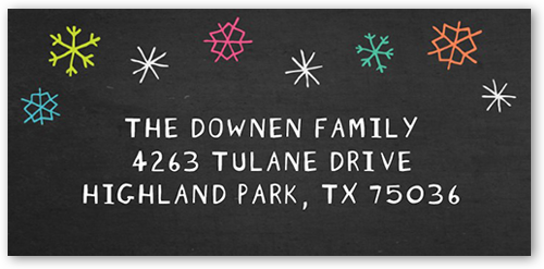 Colorful Jingle Address Label