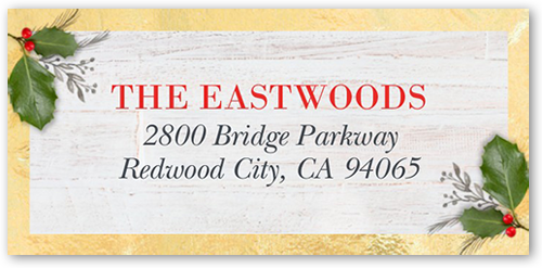 Joyful Woodgrain Address Label