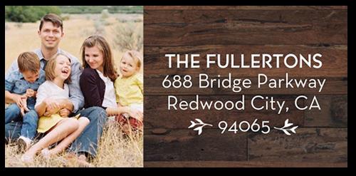 Festive Collage Address Label