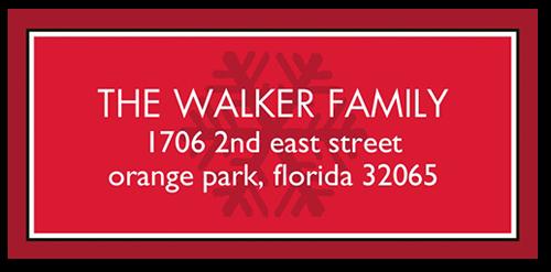 Merry Circular Snowflake Address Label