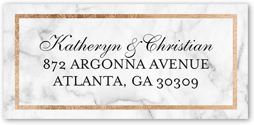 Marble Collage Address Label