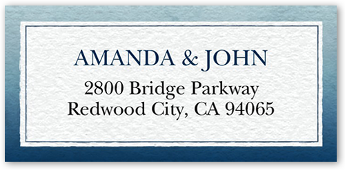 Watercolor Wedding Address Label