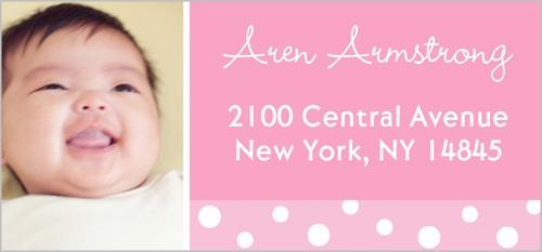 Twelve Months Pink Address Label