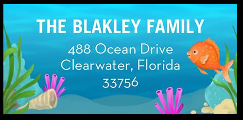 Enchanted Sea Address Label