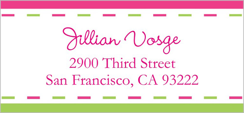 Grown Up Pink Address Label