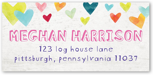 Celebration Hearts Address Label