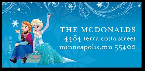 Disney Frozen Snowflake Swirls Address Label