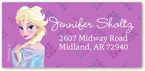 Disney Frozen Elsa Celebration Address Label