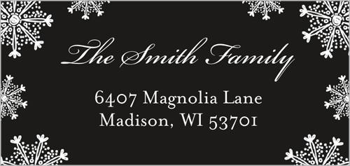 Family Snowfall Address Label