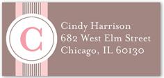 elegant monogram girl address label
