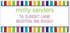 colorful address label