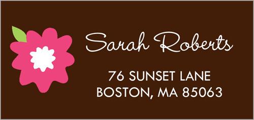 A Floral Bunch Address Label