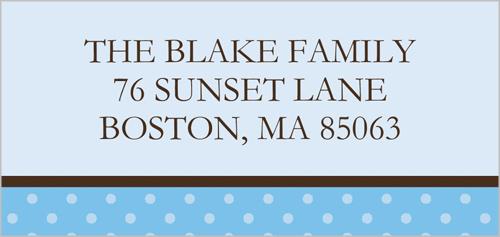 Baby Blue Dots Address Label