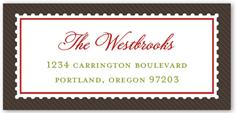 stamped monogram address label