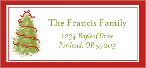 O Festive Tree Address Label
