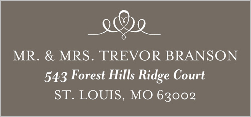 Elegant Swirl Frame Address Label