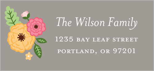 Vintage Floral Frame Address Label