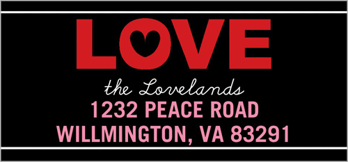 Sweet Love Wishes Address Label