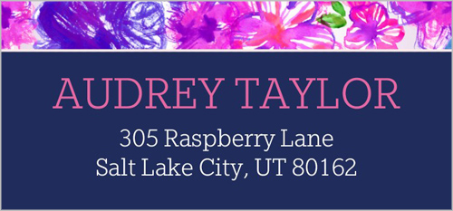 Painted Blossoms Address Label