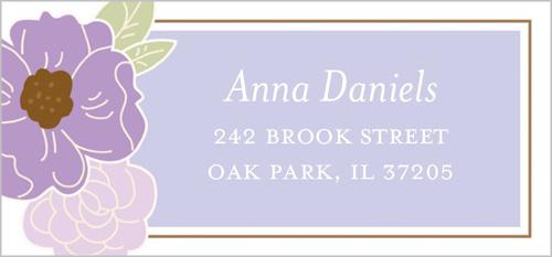 Blossoming Bride Address Label