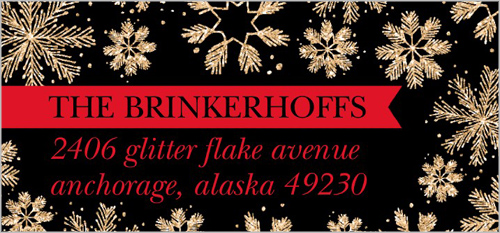 Exploding Flakes Address Label