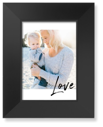Love Contemporary Art Print, Black, Pearl Shimmer Card Stock, 5x7, White
