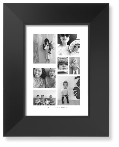 Vertical Gallery Collage of Seven Art Print, Black, Signature Card Stock, 5x7, Multicolor
