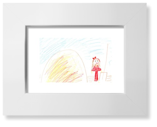 Create Your Own Kids Art Art Print, White, Pearl Shimmer Card Stock, 5x7, Multicolor