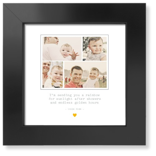 Forever Heart Collage Art Print, Black, Signature Card Stock, 8x8, White